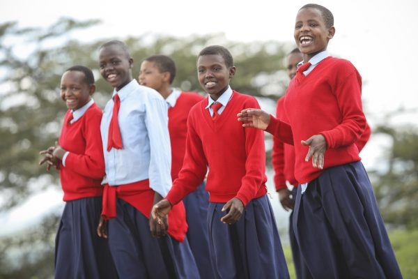 Students is Secondary School in Rural Tanzania