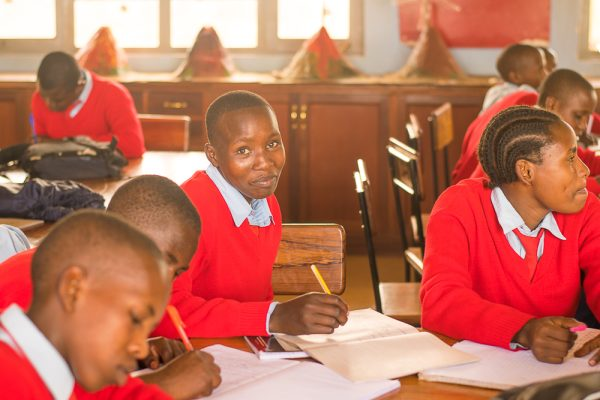 Students in Class in Secondary in Tanzania