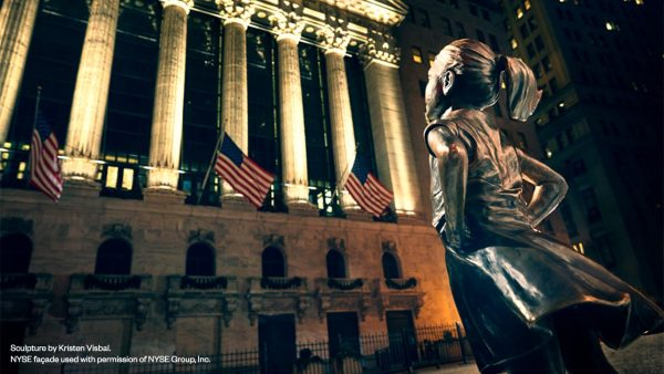 Fearless Girl Statue at the New York Stock Exchange