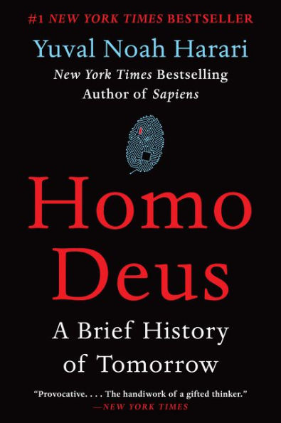 Book Cover of Homo Deus by Yuval Noah Harari