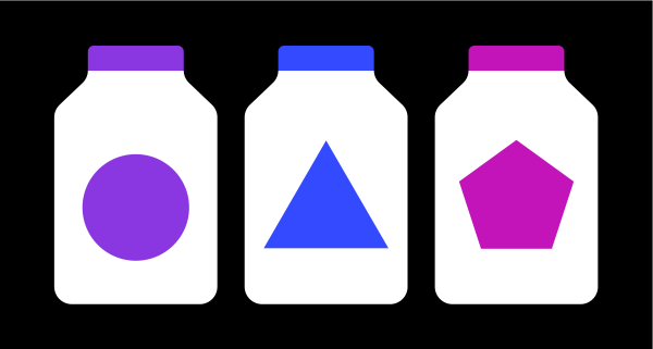 Graphic of Different Colored Bottles