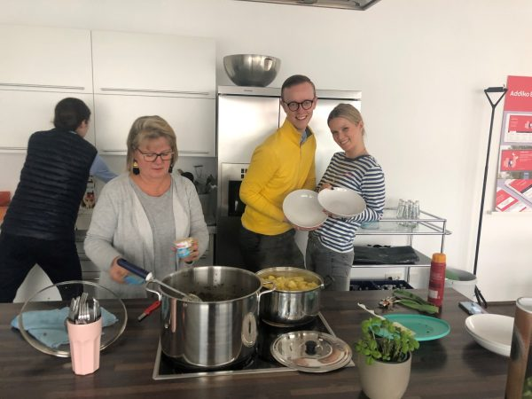 "Berlin Office Cooking Their ""Kale for Koalas"" Meal"